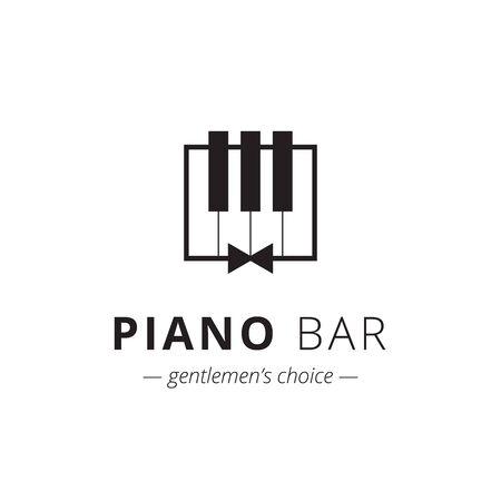 minimalistic: Vector minimalistic piano logo. Music trendy symbol