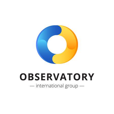 Vector creative abstract O letter logo. Brand sign