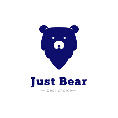 minimalistic: Vector minimalistic bear head. Brand sign