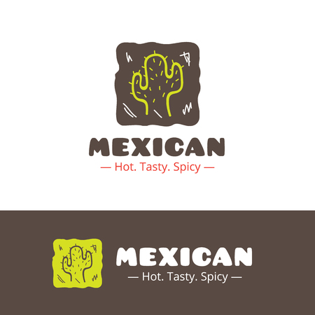 mexican restaurant: Vector colorful mexican food logo. Mexican restaurant logo. Fast food cafe logo template