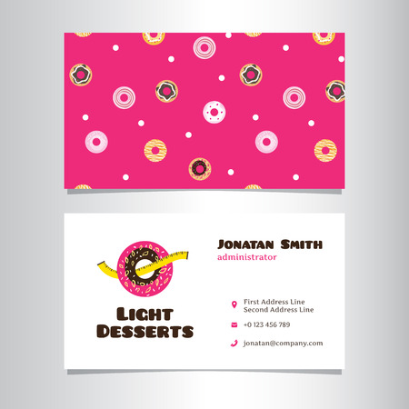 Vector modern business card template with funny donut logo royalty vector modern business card template with funny donut logo royalty free cliparts vectors and stock illustration image 55515167 friedricerecipe Image collections
