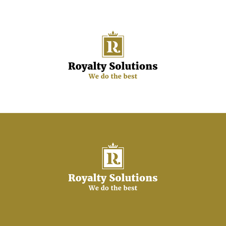 salon and spa: Royal abstract R letter logo with crown. Golden color luxurious vector symbol for beauty product line Illustration