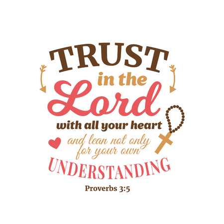 Christian proverb lettering vector composition Stock Illustratie