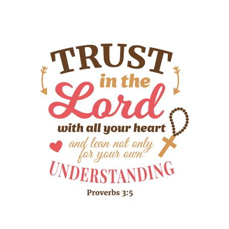 Proverbio cristiano lettering composizione vettoriale
