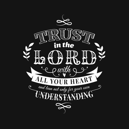 Christian proverb lettering vector composition in chalkboard style