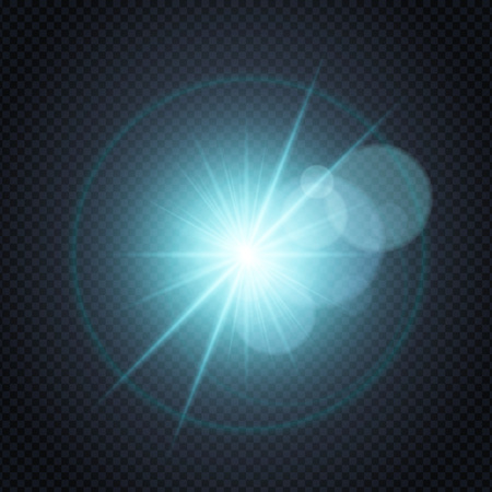 Glitter glowing spark isolated,star burst glow with lens flare on transparent background.Light effects decorations for typography,web online concept.Night club poster,banner flyer concept elements