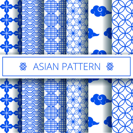 Oriental asian traditional chinese korean japanese patterns decoration elements set,web online concept page background,asians symbols.Koreans tradition ornate geometric forms,shapes,wrapping paper