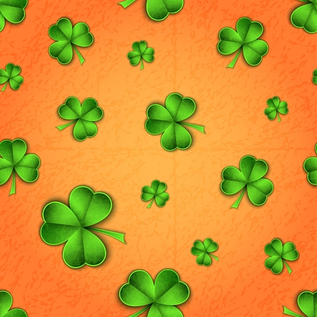Green paper cut Saint Patrick Day traditional symbol shamrock three leaf clover-seamless pattern modern trendy flyer concept,greeting card,mockup banner design.Web online,cover page,brochure template