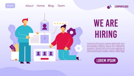Recruitment agency online service landing page concept