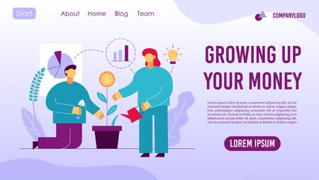 Return to investment concept landing page design