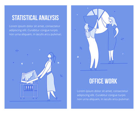Statistical data analysis, office work review set. Business cyberspace. Audit, accounting. People analytics team interaction virtual graphs charts. Businesswoman carying trolley cart filled graphics