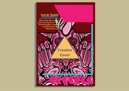 creative display layouts design with Mask as modeling and using pop art coloring 向量圖像