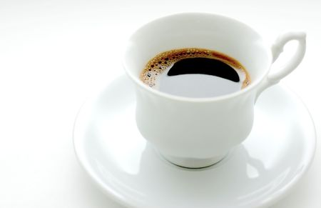 sobrio: taza de caf�  Foto de archivo
