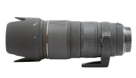 telephoto lens with tripod collar