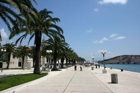 Scena od Trogiru w Chorwacji, Morze Adriatyckie