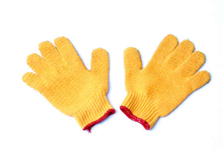 work gloves isolated Stock Photo