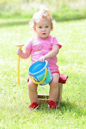girl summer fun Stock Photo