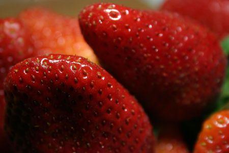 fresh strawberries closeup