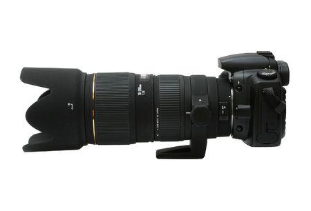 Digital SLR Camera z teleobiektyw