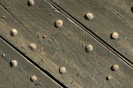 pattern from old castle wooden door