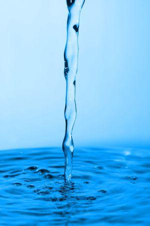 pending cool blue water drop Stock Photo