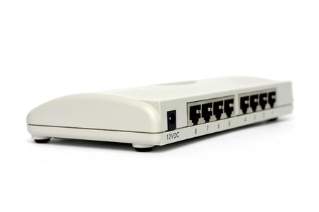 network switch on white background