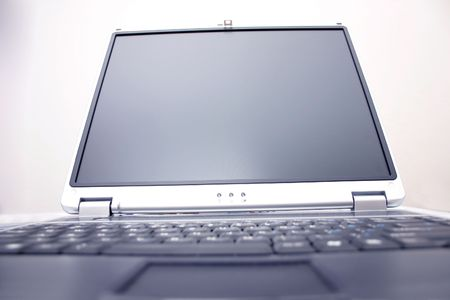notebook screen with blurred out keyboard Stock Photo - 283891