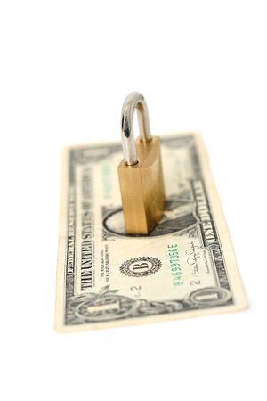 concept of locked money
