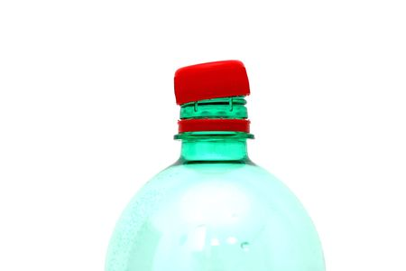 top of bottle of water with open cap Stock Photo