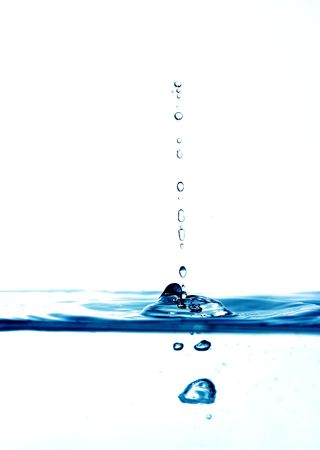high key blue water drops