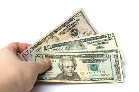 pieniędzy w kasie Zdjęcie Seryjne
