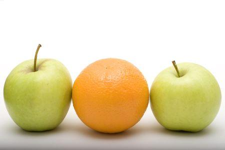 jabłka i pomarańczowy