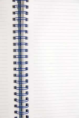 empty pages in notebook Stock Photo