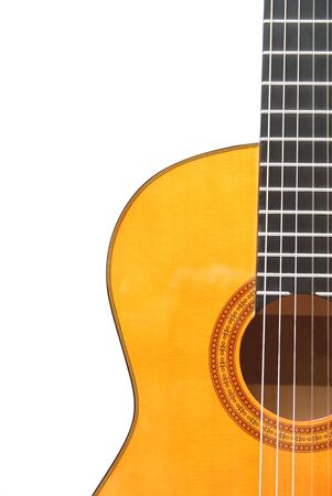 Detail of classic (spanish) guitar photo