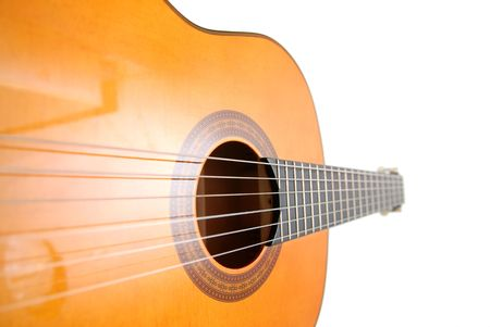 classic guitar, unusual perspective Stock Photo