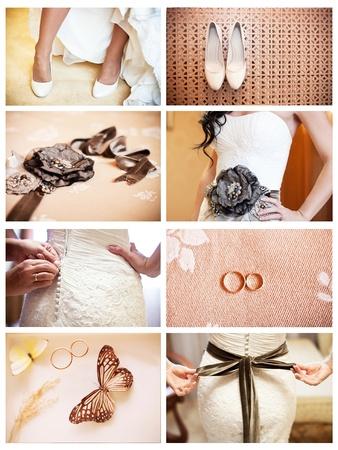 collage of eight wedding photos