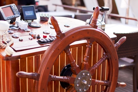 helm, board, rudder, travel, wood photo