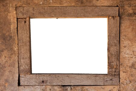 decorative old wooden rectangle frame