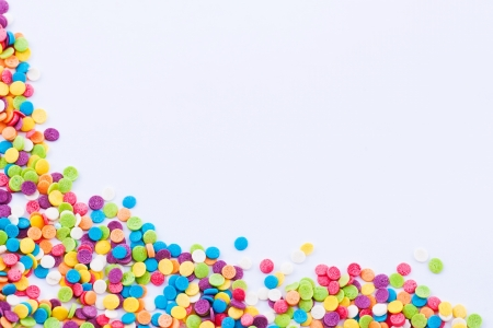 Frame made of colored dots on the white background Stock Photo - 16933659
