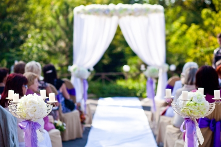 wedding ceremony in outside 스톡 콘텐츠