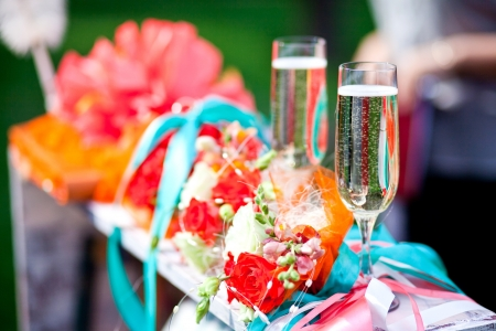 wedding ceremony in outside Standard-Bild