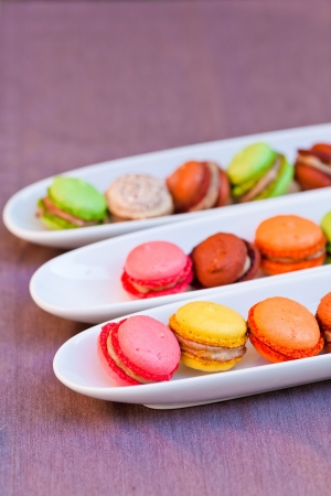 obody: Colorful macaron isolated on a purple background
