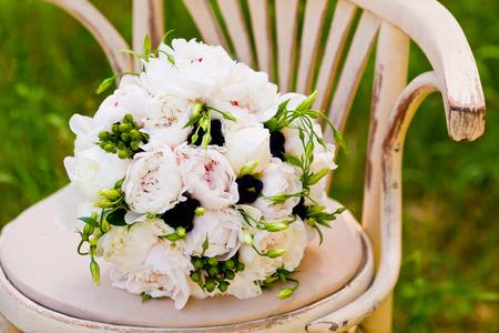 bouquet of wedding flowers 스톡 콘텐츠