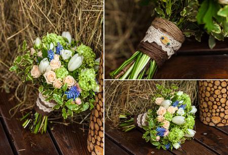 collage of wedding accessories Standard-Bild
