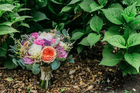 Word Hochzeit Hochzeitsdekor Caption Hochzeit Mit Hochzeitsstrauss