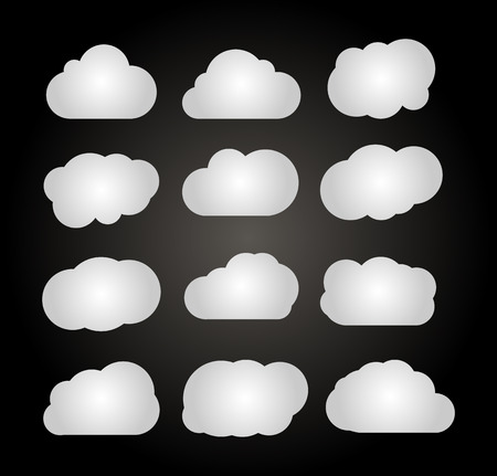 Clouds collection.  Vector illustration EPS 10 Icon Vector