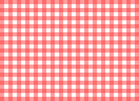 tilable: Easy tilable  red gingham repeat pattern print, seamless background, wallpaper with fabric texture visible