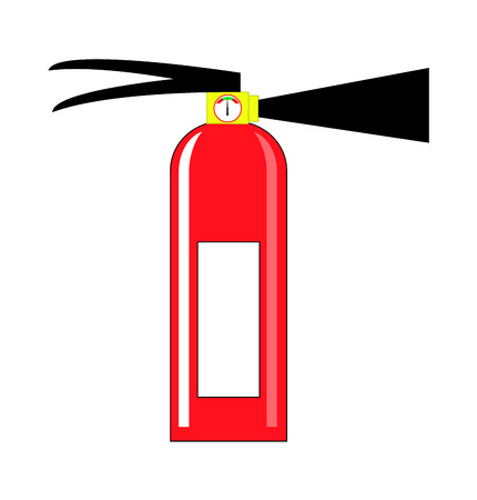 Fire extinguisher. Vector isolated illustrator EPS 10 Vector