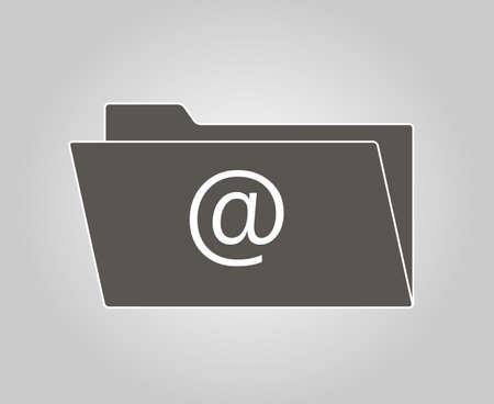 posted: Folder icon email. Vector illustrator EPS 10. Illustration