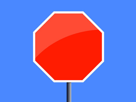 Blank Blue Road Sign - Pair of roadsigns in blue color isolated on white background. Vector